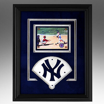Mickey Mantle Famous Home Run Framed Showcase Photo #7 Ny Yankees Certified Coa!