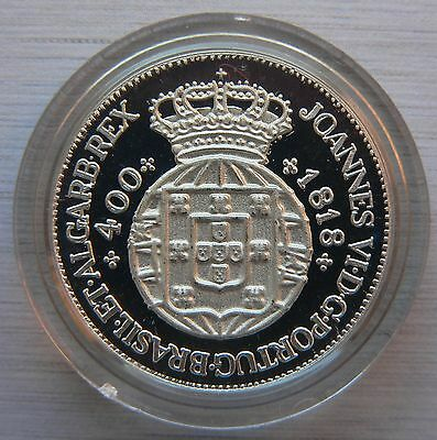 Portugal 400 reis 1818 REPLICA-REPRODUCTION PROOF silver 0.925