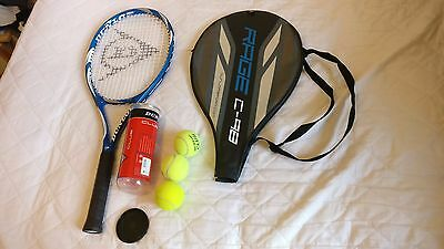 Tennis Racket Dunlop Rage C98 with cover bag and balls