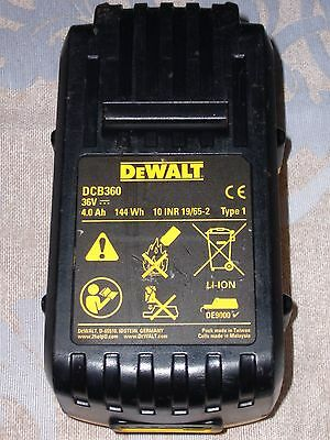 GENUINE DEWALT DCB360 36volt 4Ah Li-ion LITHIUM-ION slide on BATTERY.