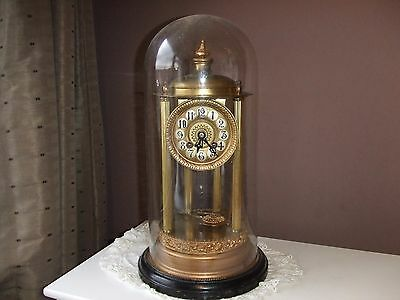 Antique Glass Dome Chiming  Anniversary Clock, Tlc