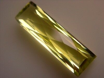 LEMON QUARZ  -  BAGUETTE CHECKERBOARD  -  23x7 mm  -  6,15 ct.