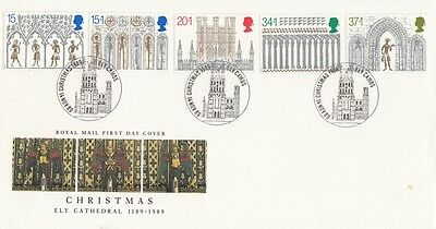 1989 Christmas - Christmas 1989, Ely, Cambs SPMK H/S FDC