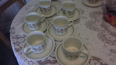 Six BHS Autumn Leaves Coffee Cups - Buyer to Collect Only Please From Tutshill