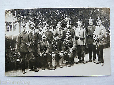 Company of German Soldiers wearing Pickelhaubes-Original WW1 German Photograph