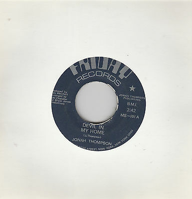 "Jonah Thompson-Devil in my home/I must be strong US 7"" Single Friday Records"