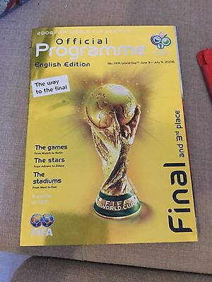 Signed Official World Cup 2006 Programme By Germany And Poland Rare