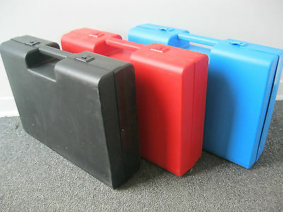 Plastic Carrying Briefcase -  Please choose your color RED-BLUE-BLACK