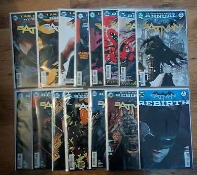 BATMAN #1-13 Special and  Annual DC UNIVERSE REBIRTH 1ST PRINT! HOT!