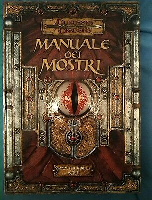 ★ D&D ITA★ Dungeon and Dragons 3.5 ★ MANUALE DEI MOSTRI ★ Manuale Base III