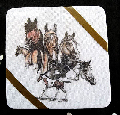 Horse Lovers Drink Coasters Set
