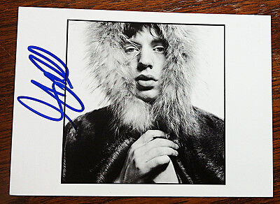 MICK JAGGER NPG POSTCARD Signed by photographer David Bailey THE ROLLING STONES