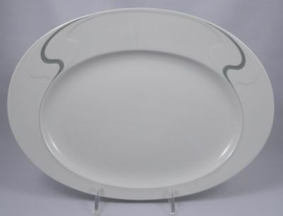 ROSENTHAL Asymmetria Grey Oval Serving Platter
