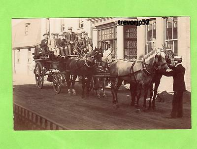 Coach & Horses Coaching Wentworth Castle Hotel Barnsley ? unused RP pc Ref A563