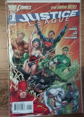 Justice League Comic 1 DC 2011 New 52 Johns Lee Williams  1st Printing