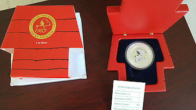 1 Dollar 2006 TUVALU Snoopy Year of Beagle Proof Silver Coin