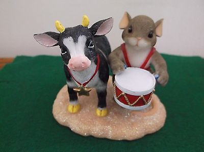 """Charming Tails """"I'm Moo-ved By You"""" Mouse Drumming by Bull Cow 87/253"""