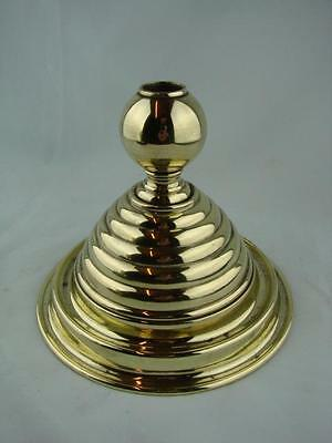 Unusual Conical Oil Lamp Base With Concentric Ring Decoration, 22Mm Mount