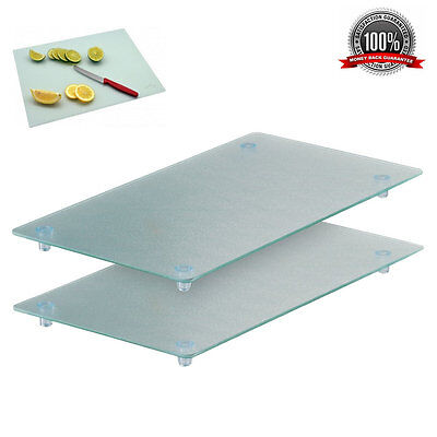 2x Glass Hardened Toughened Chopping Board Cooker Hob Cover Protector Worktop
