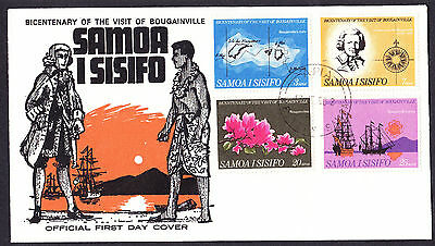 Samoa Bicentenary of the Visit of Bougainville First Day Cover FDC 1968 Samoan
