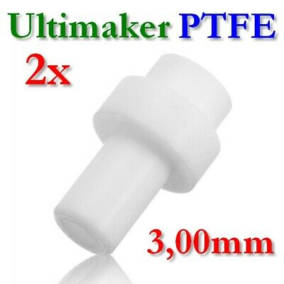 2x PTFE Koppler 3mm Filament Teflon Coupler Rohr HotEnd Isolator Ultimaker 2 UM2