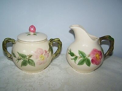 Franciscan Desert Rose Creamer And Covered Sugar Bowl Made In California Usa