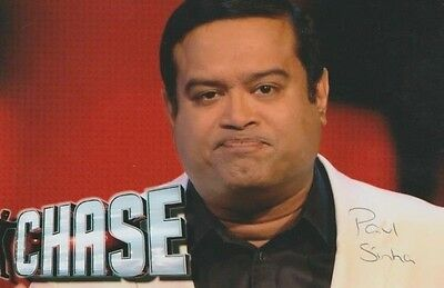 *signed*  Paul Sinha - 4X6 Photo  (The Chase)  Autographed