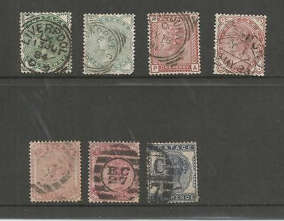 Queen Victoria 1880-81 Set Of Seven Used Definitives Sg 164-169 Ref 88