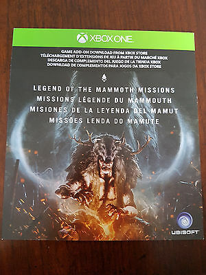 Xbox One Far Cry Primal Mammoth Missions DLC Download Code New Unused