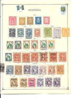 Guatemala - 935+ assorted stamps on pgs.