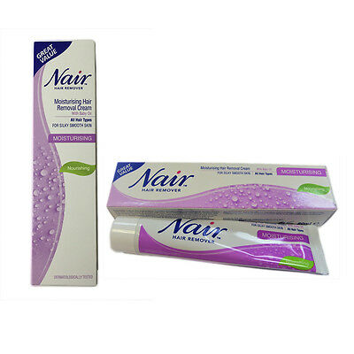 Nair Moisturizing Hair Removal Cream With Baby Oil For All Hair Types 80ml, New