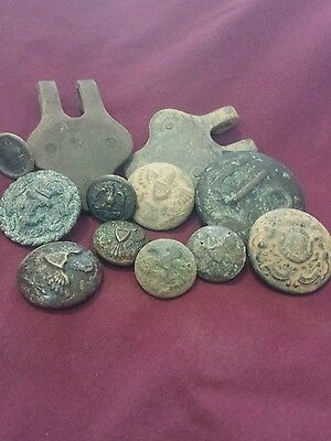 Dug Indian Wars Buttons And Relics