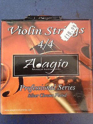 Set Of Adagio 4/4 Violin Strings