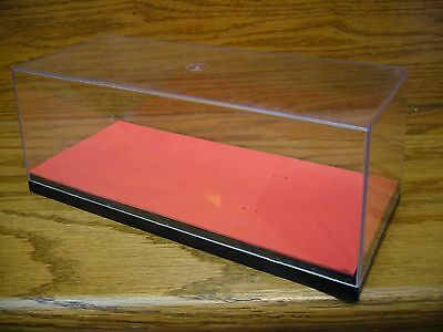 ERTL Clear Plastic Used Display Case for 1/24 Diecast Cars & Collector Cars RED