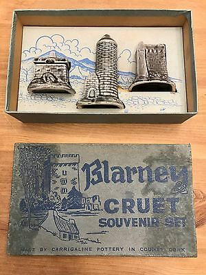 Rare Blarney Castle Boxed Collectors Cruit Set In Mint Condition