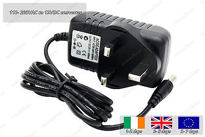 100- 220VAC To 12VDC 1000mA LED Strip Power Transformer Supply AC To DC UK Plug
