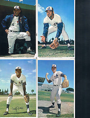 1971 Postcards Series of 28 Montreal Expos Signed