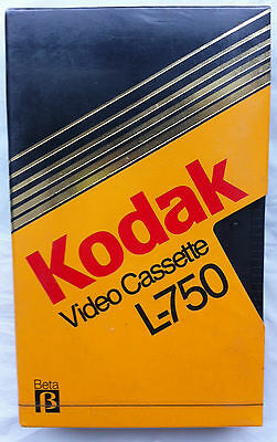 Kodak blank Beta Video Cassette L-750 Betamax NEW