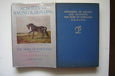 "Horse Racing Book ""memories Of Racing & Hunting"" Duke Of Portland In Dust Jacket"