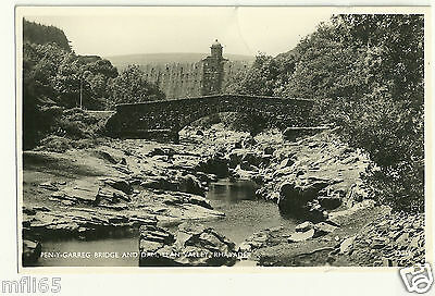 Old Postcard - Pen-Y-Garreg Bridge and Dam, Elan Valley, Rhayader - Unposted