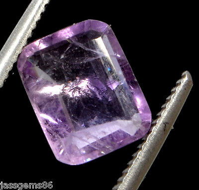 MGL Certified 3.55 CT. Natural Emerald Cut Voilet Amethyst Gemstone S. No-7416