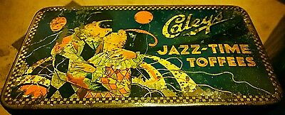 CALEYS JAZZ-TIME TOFFEE TIN 1920s?