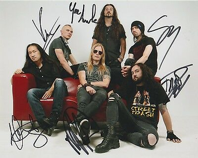 *signed*  Dragonforce - 8X10 Photo  (Maximum Overload)  Autographed