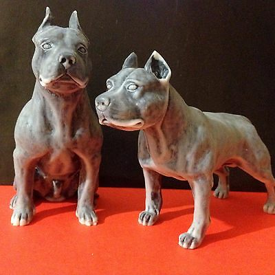 American Staffordshire Terriers figurines dogs marble chips Souvenir from Russia