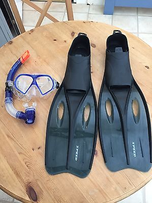 Snorkelling Set And Flippers (size XXL 44-46)