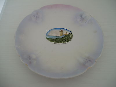 Vintage Collectable China Plate Pearlised finish St Anthonys Lighthouse Falmouth