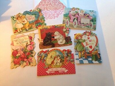 Six Punch Studio Victorian Valentine's Day Cards WITH ENVELOPES New