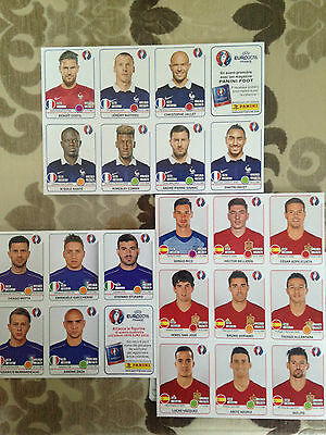 EURO 2016 FRANCE+SPAIN+ ITALY Updates Extra stickers- EURO 2016 - PANINI