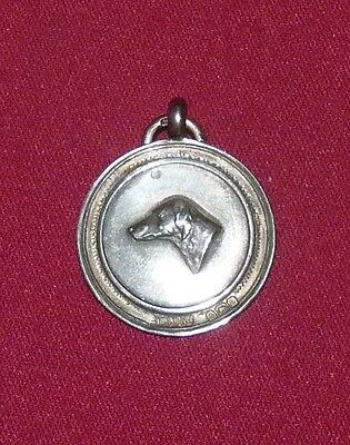 Silver hallmarked 1935 Jubilee King George and Mary Weimaraner club medal