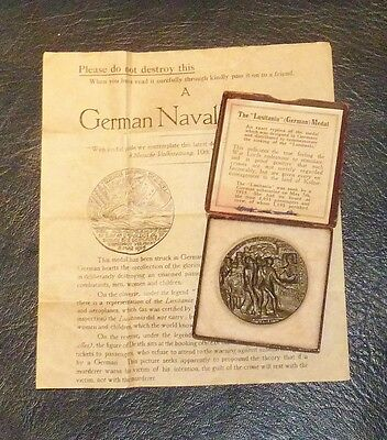 RMS Lusitania medal complete with box and certificate